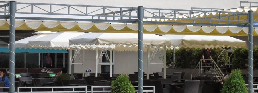 Hình ảnh mái hiên di động tại các nhà hàng quận Thủ đức