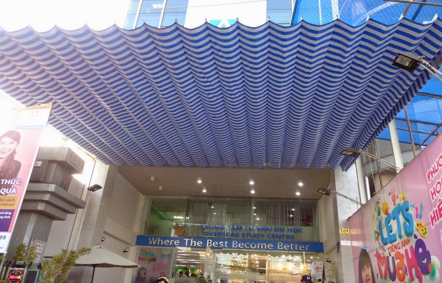 Hình ảnh mái hiên di động quận 5 lượn sóng